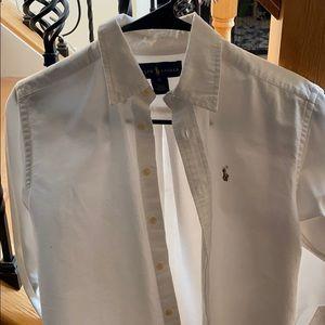 Boys size 12 button down polo shirt